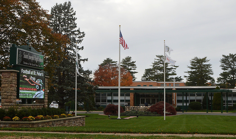 Saint Joseph High School exterior and sign 2018.png