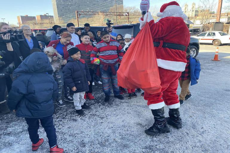 Santa Claus and kids