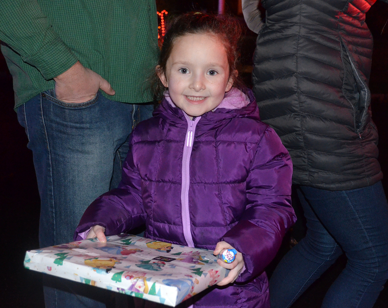 Santa brings gifts and big smiles to Helen  St. in Fanwood.