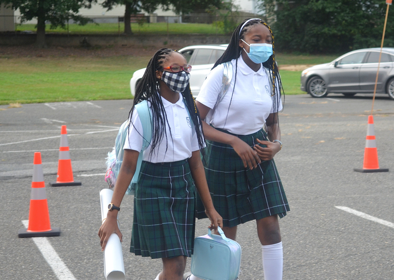 Scenes from Saint Bart's First Day of School in Scotch Plains