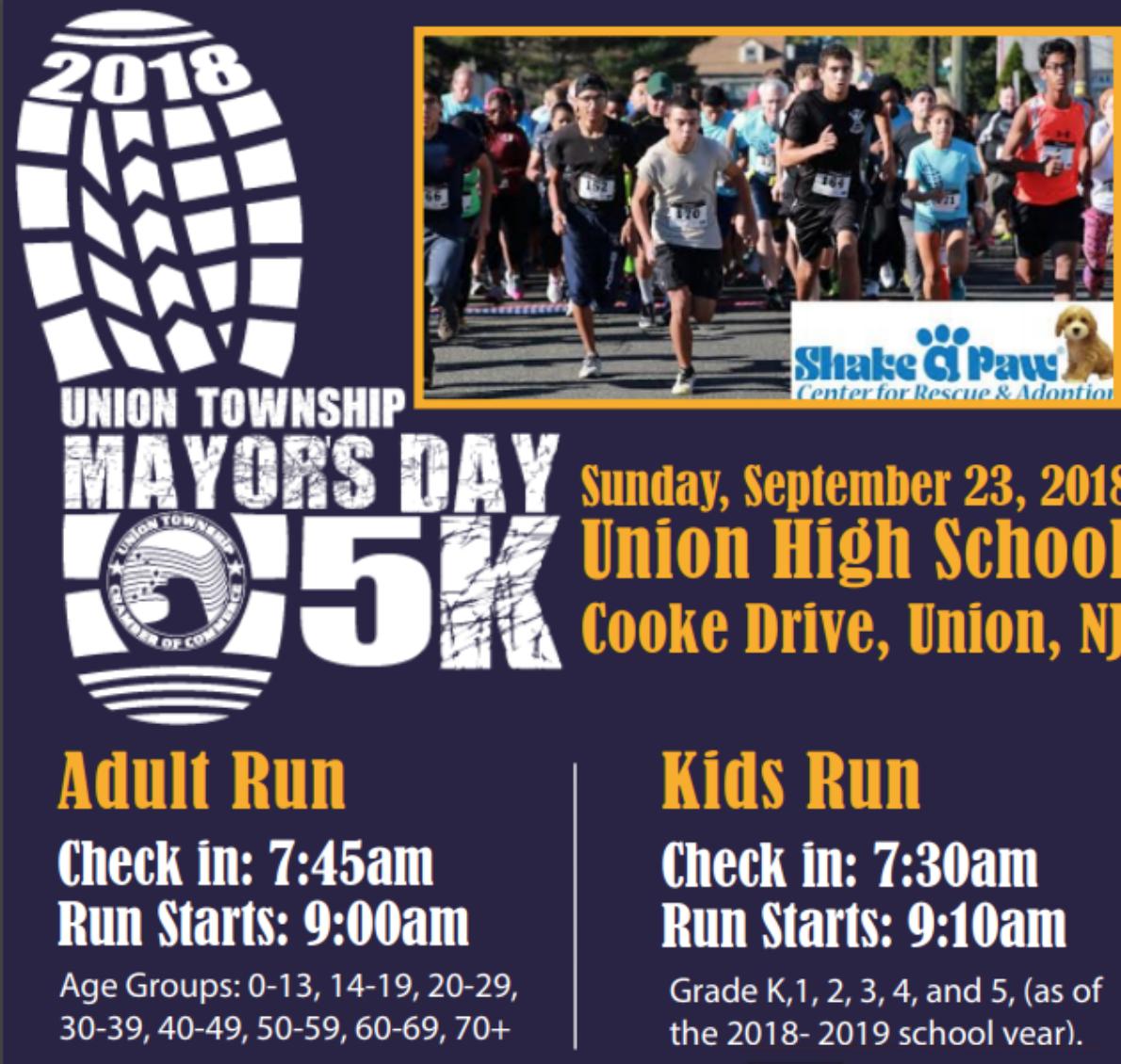 Union Chamber Kicks off Mayor's Day 5K
