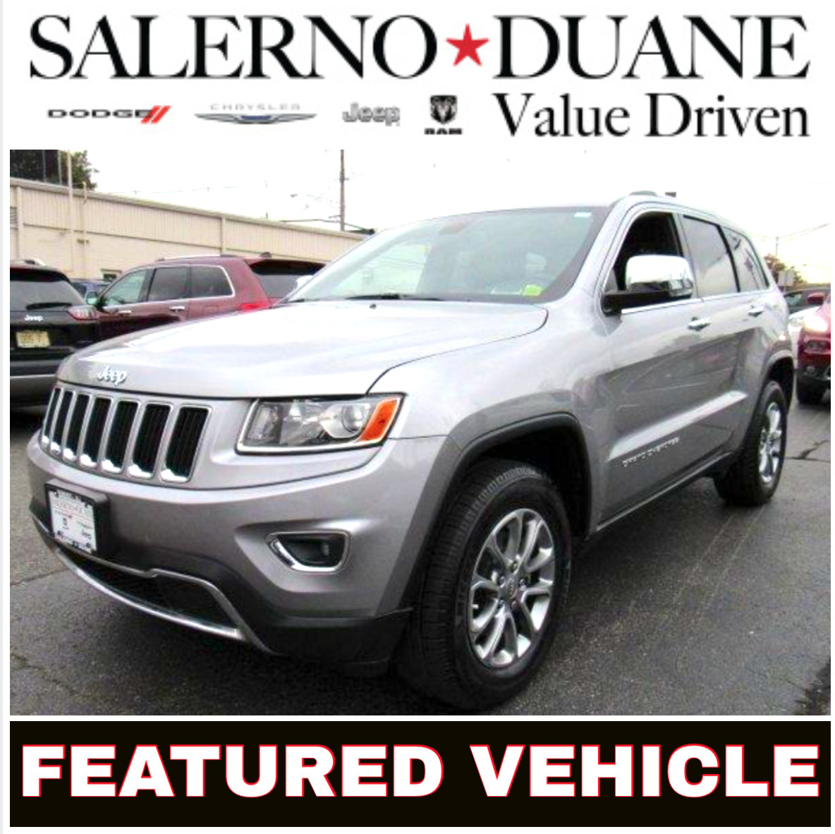 certified 2015 jeep grand cherokee 4wd limited is salerno duane featured pre owned vehicle tapinto. Black Bedroom Furniture Sets. Home Design Ideas