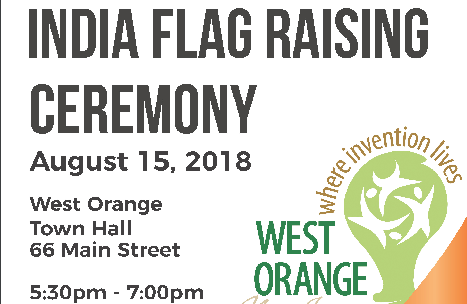 Indian Flag Raising Ceremony to be Held in West Orange
