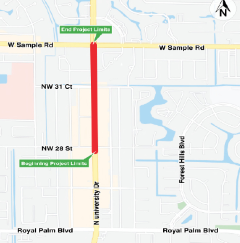 New Road Construction in Coral Springs: University Drive