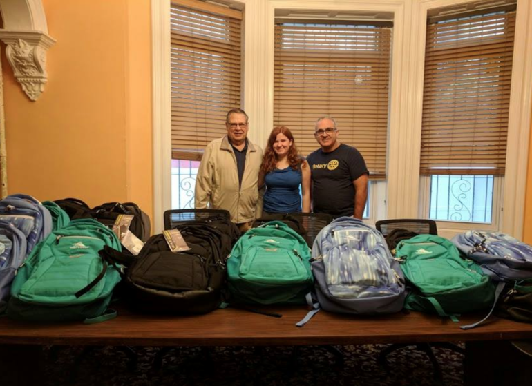 Union Rotary Continues the Tradition and Delivers School Backpacks