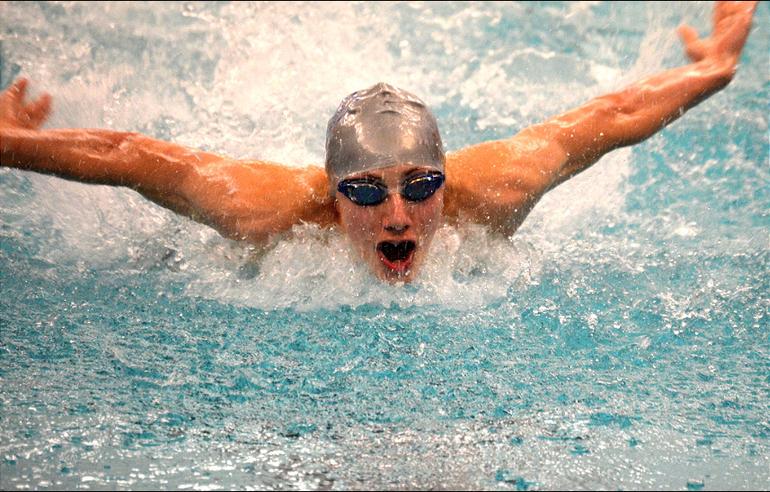 Scotch Plains-Fanwood boys swimming's Jason Mongiovi.