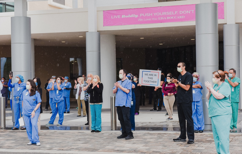 "Message to Coral Springs Hospital Workers: ""Our Community Thanks You For Your Service"""
