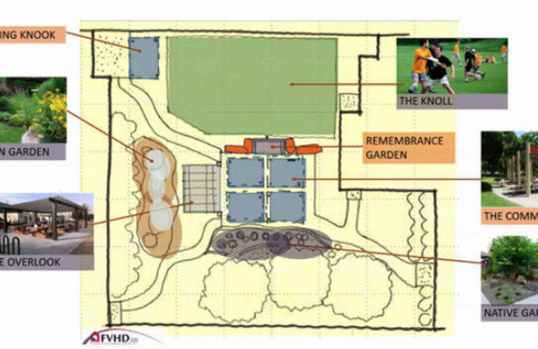 garden courtyard for dr. derrick nelson westfield principal