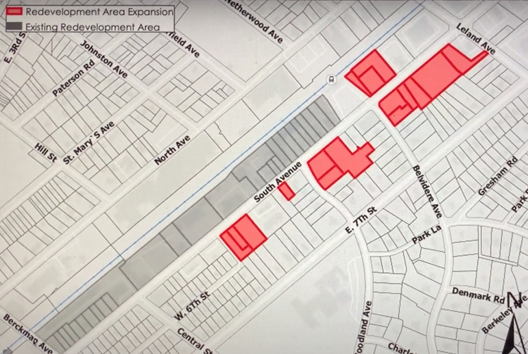 Planning Board Approves Plainfield TODN South Ave Redevelopment Plan's Expansion