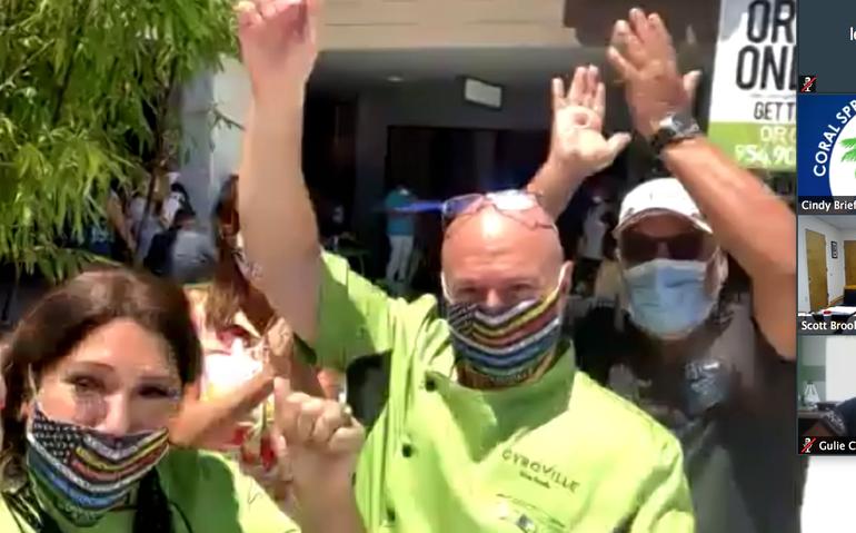 First Virtual Ribbon Cutting Opens New Coral Springs Restaurant Amid Coronavirus