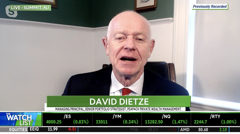 WATCH: Peapack Private Wealth's Dietze Serves Up Stocks to Watch, Potential 'Flies in the Ointment'
