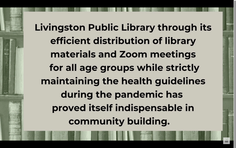Community Video Reveals How Livingston Library Helped Residents Cope with Pandemic