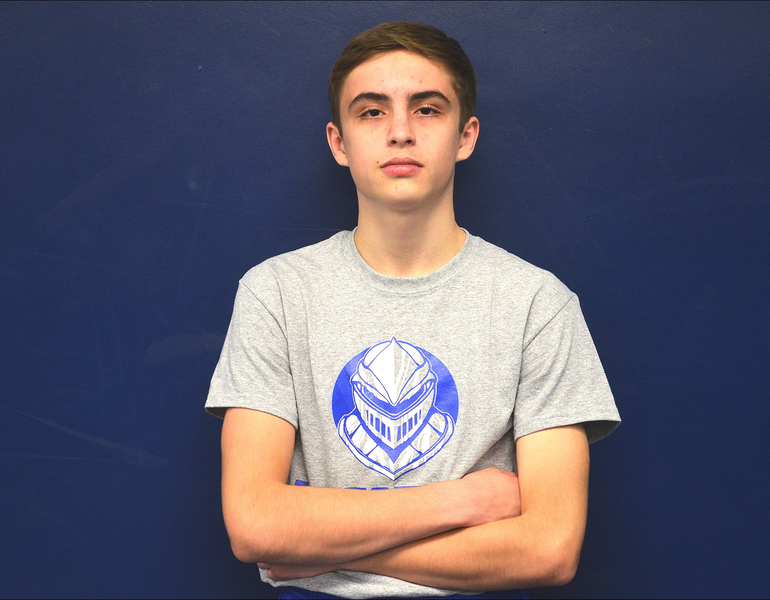 Scotch Plains Fanwood wrestler Joey Larmore was a fourth place finisher in the Union County tournament.