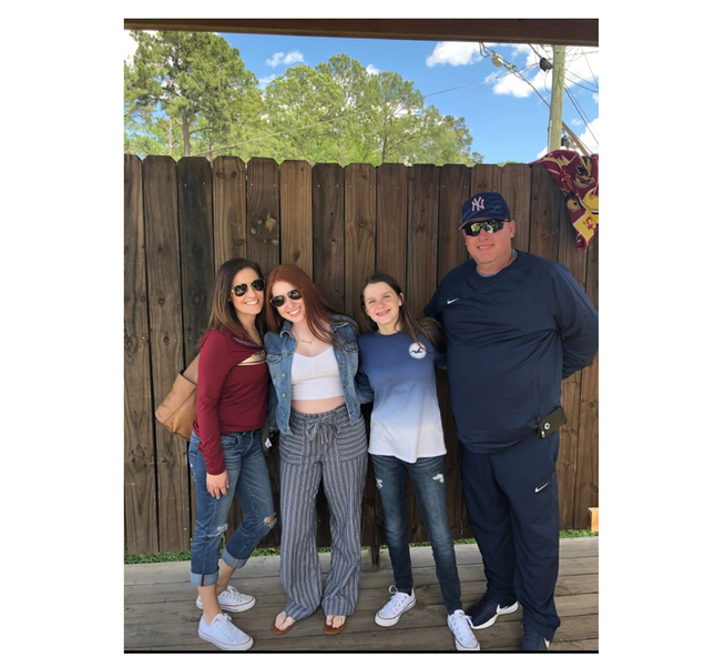 Family of Jason Stein: from left to right, Michele, Ilana, Hailey, and Jason.