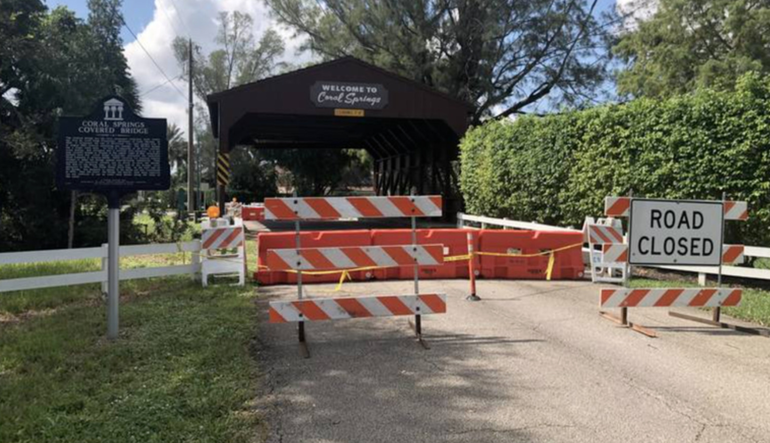 "Coral Springs Vice Mayor: It's Time To Consider Moving Covered Part of Iconic ""Covered Bridge"""
