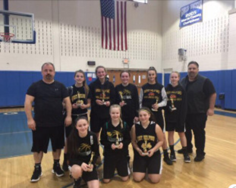 West Milford Lady Highlanders 2nd place 7th grade
