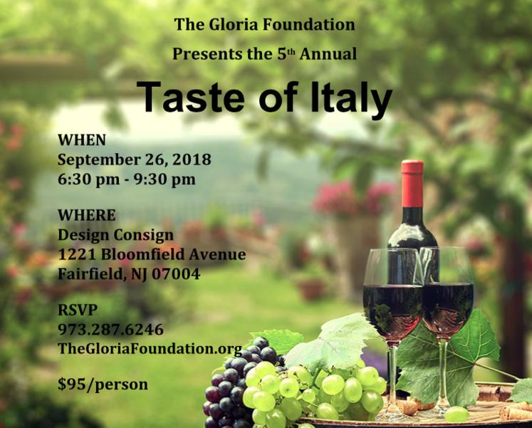 "Gloria Foundation Announces ""Taste of Italy"" Fundraiser"