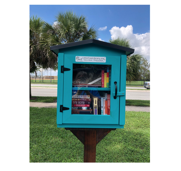 A New Free Library Box Opens in Coral Springs To Inspire Reading