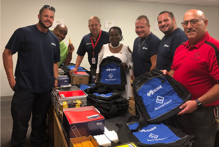 SUEZ and Shauger Group Team Up to Benefit Kids for Back-to-School