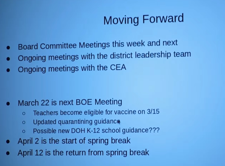 Chatham BOE Discusses Ways to Increase In-Person Learning; Superintendent Targets Changes for Grades 6-12 Before End of Year