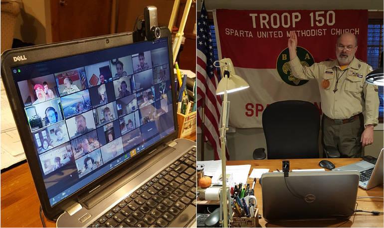 Scout Oath to open the Troop 150 virutal Troop meeting.jpg