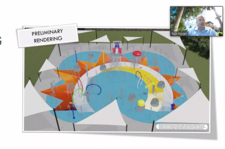 Sketch of the new splash pad at Betti Stradling Park in Coral Springs