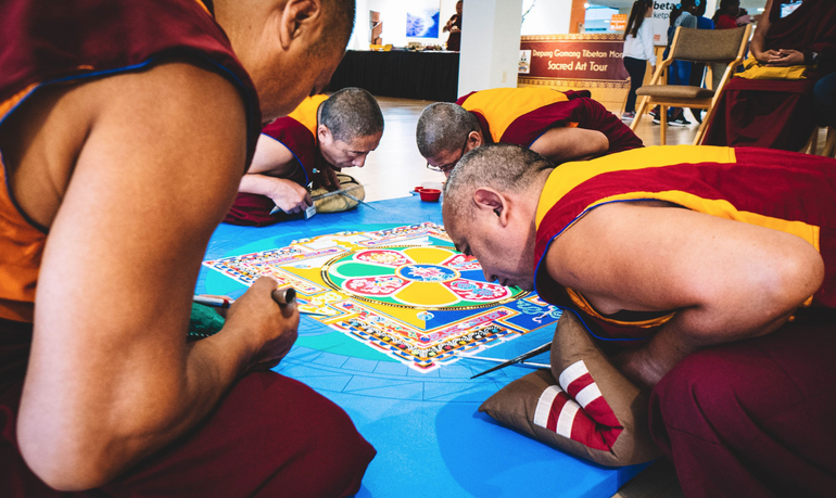 Sunday: Monks To Destroy Intricate Sand Design at Coral Springs Museum of Art