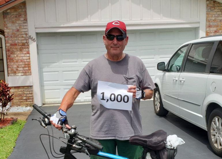 Coral Springs Resident Rides 1,000 Miles To Inspire Others