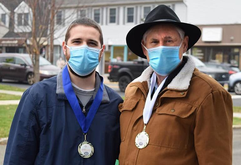 Scotch Plains Mayor Al Smith Hands Out Mayor's Wellness Medals