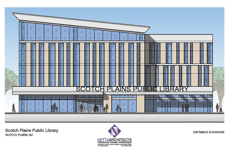 Scotch Plains Library rendering entrance.png