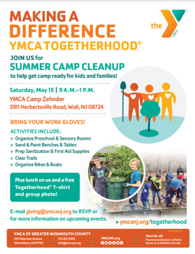 Red Bank YMCA Partners with Clean Ocean Action, Girl Scout Brownie Troop for Shore Clean Up
