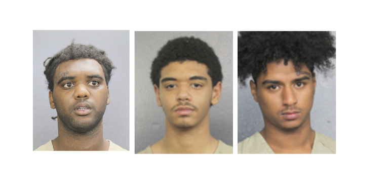 Coral Springs Police Arrested Three Young Men After Involvement In Accidents in Their Allegedly Stolen Car