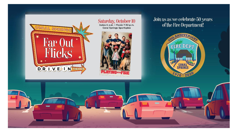 Next Drive-In, Movie Night in Coral Springs Set For Oct. 10