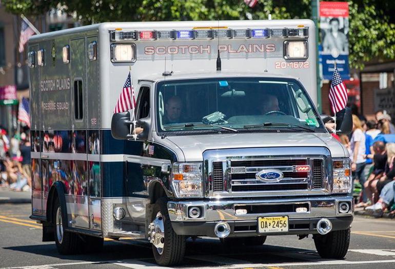 Scotch Plains Rescue Squad truck