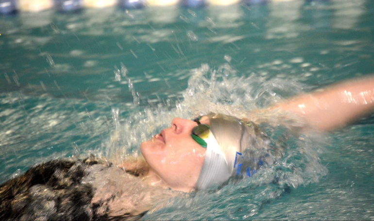 Scotch Plains-Fanwood's Lily Hughes wins the 100 Backstroke.png