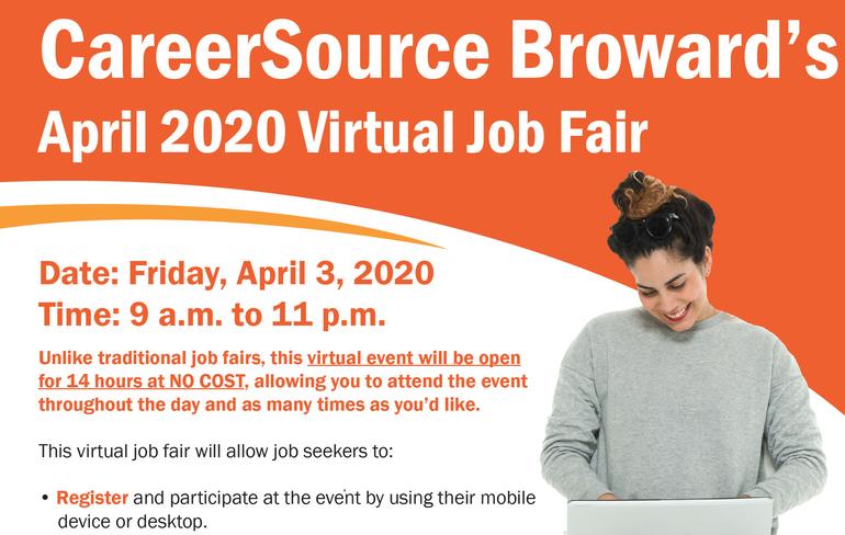 Virtual Broward County Job Fair Changed Date to April 3