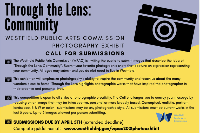 Photo Contest: Westfield Arts Commission Seeks Entries for 'Through The Lens'