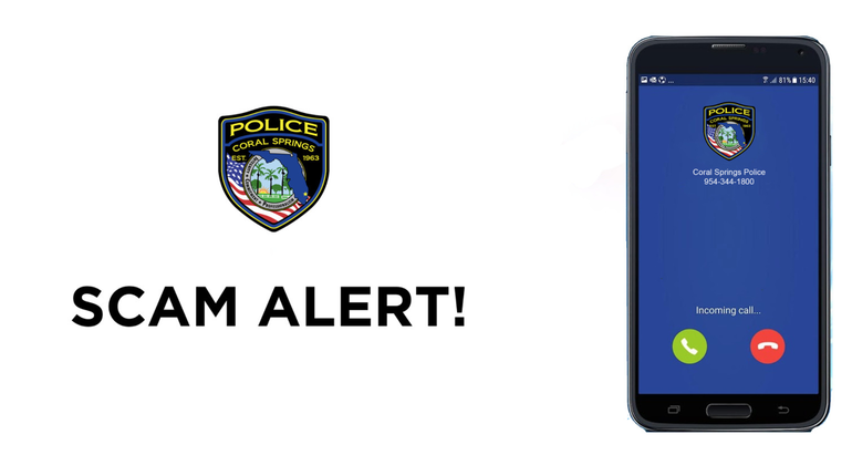 Coral Springs Police Put Out Warning Of New Scam Involving Law Enforcement