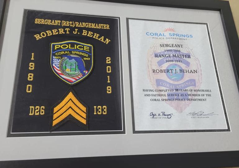 Coral Springs' Police Gun Range Renamed In Honor Of Sergeant Who Passed Away Last Year