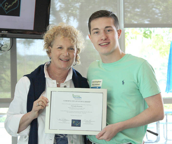 Scholarship recipient with Hearts for Emma fund Christopher Piccinni.jpg