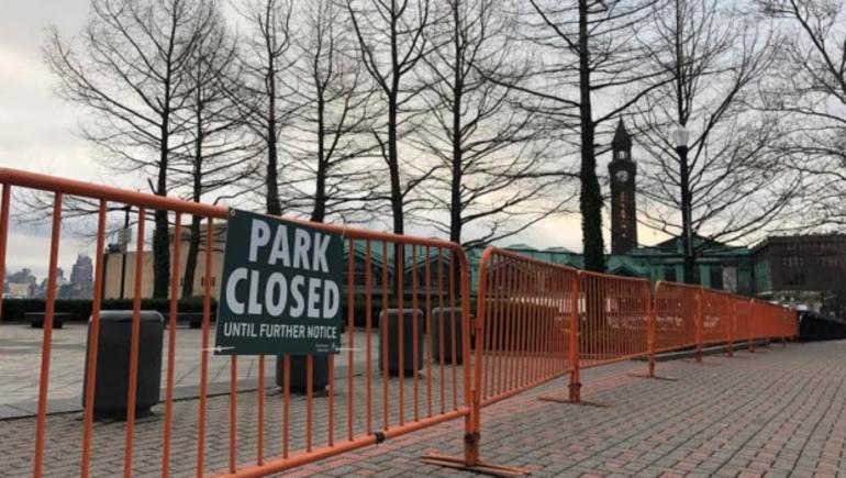 Hoboken Pier A Park Closed.png