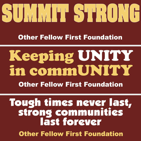 Sticking It to The Virus, Summit's Other Fellow First Foundation Continues Fundraising, Starts Bumper Sticker Campaign