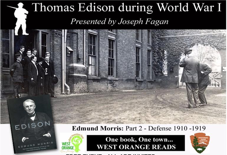 Presentation on Thomas Edison During WWI to Kick Off New Program in West Orange