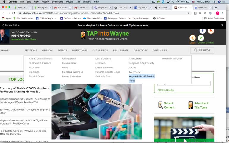 TAPintoWayne.net Screenshot.png