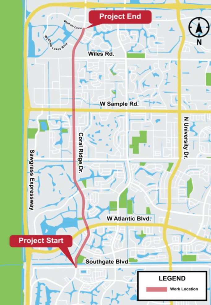 Coral Ridge Drive in Coral Springs To Get Bike Lanes And Other Improvements
