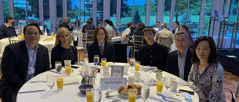 Governor Livingston Recent Grads Matthew Chin and Desmond Lam Participate in Annual Recognition Breakfast for Outstanding Scholars