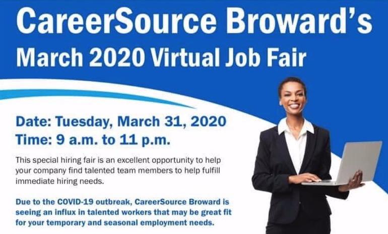 Virtual Broward Job Fair Next Week Offers Chance to Find Work
