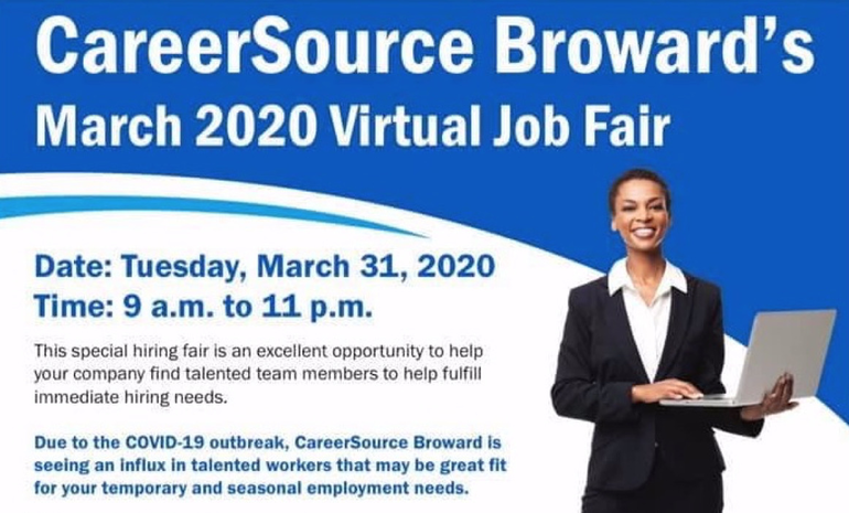 Virtual Broward Job Fair Next Week Offers Chance to Find Work
