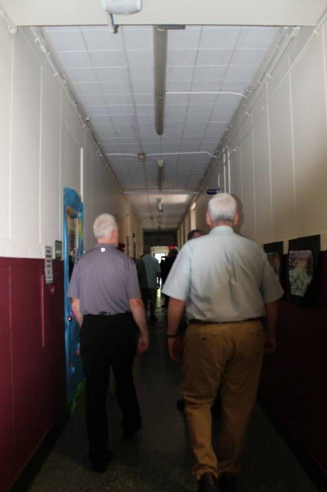 School Tour. Walking down the halls as we use to do.jpg
