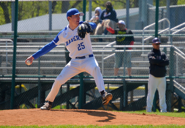 Scotch Plains-Fanwood's starting pitcher Matt Drubulis.